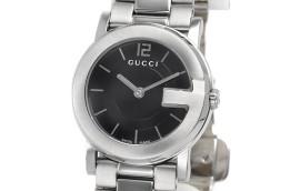 グッチ時計コピー Gラウンド ブラック文字盤 クォーツムーブメント搭載 YA101505