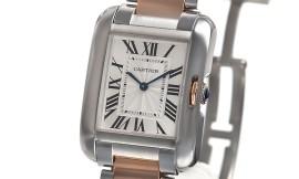 カルティエコピー時計 タンクアングレーズ MM クォーツムーブメント W5310043