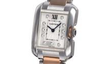 カルティエコピー時計 タンクアングレーズ SM クォーツムーブメント WT100024