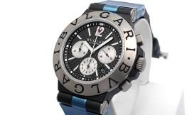 ブルガリコピー時計 ディアゴノ チタニウム クロノ B130自動巻きムーブメント TI44BTAVTDCH/ SLN