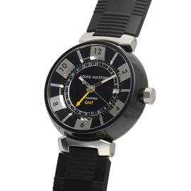 ルイ・ヴィトンコピー時計 タンブール イン ブラックGMT 自動巻きムーブメント搭載 デイト表示 Q113KO