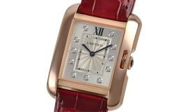 カルティエコピー時計 タンクアングレーズ MM クォーツムーブメント WJTA0009