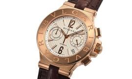 ブルガリコピー時計 ディアゴノ クロノ デイト表示 自動巻きムーブメント DGP40C6GLDCH