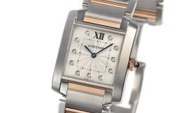 カルティエコピー時計 タンクフランセーズ MM クォーツムーブメント WE110005