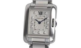 カルティエコピー時計 タンクアングレーズ SM クォーツムーブメント W4TA0003