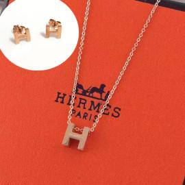 Hermesエルメスネックレスペンダントスーパーコピー两件套
