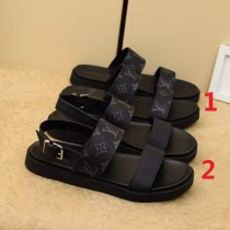 ルイヴィトン靴コピー 定番人気2020春夏新作 Louis Vuitton メンズ サンダル-スリッパ 2色