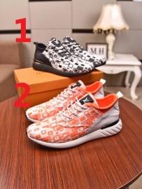 ルイヴィトン靴コピー 2020新品注目度NO.1 Louis Vuitton メンズ スニーカー 2色
