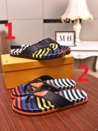 フェンディ靴コピー定番人気2020新品 FENDI メンズ サンダル-スリッパ 2色