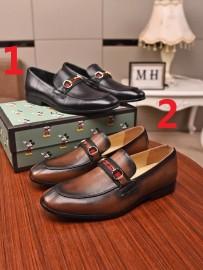 グッチ靴コピー 2020新品注目度NO.1 GUCCI メンズ 革靴 2色