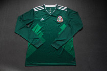 Long sleeve 2018 Mexico home soccer jersey