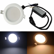 Dimmable 15W Waterproof Anti-fog 3  LED Round LED DownLight Fixture Ceiling Lamp