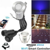 10pcs Wifi APP Controllling LED Deck Stair Lights Garden Yard Path Decor Spot Lighting Kit
