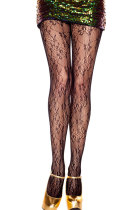 Bloom Print Lace Pantyhose