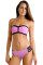 Pink Strapless Push Up Bikini Swimsuit