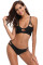 Black Two Piece Cut Out Brazilian Bikini Swimsuit