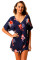 Tie The Knot Red Floral Beach Cover-up