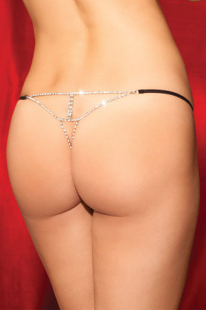 Diamond Back Black G String