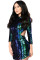Multicolor Sequins Hollow-out Club Dress