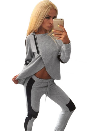Two-piece Hooded Casual Sweat Suit