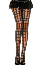 Black Sheer Pantyhose With Pothole Pattern