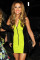 Neon Green V-neck Zip Party Bandage Dress