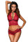 Red Upscale Babe Lace Bralette Set