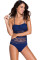 Blue Lace Halter Teddy Swimsuit