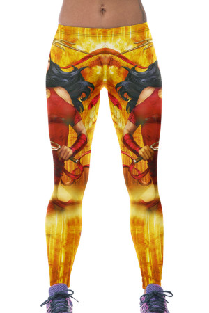 Trojan Queen Print Yoga Leggings