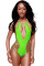 Green Strappy Cut outs One-piece Swimwear