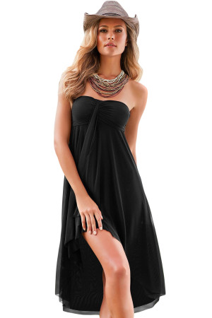 Black Convertible Beach Dress Cover Up