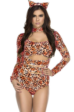 Charming Cheetah Sexy Cat Costume