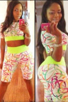 Dynamic Colorful Circle Stylish Pant Set