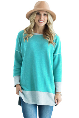 Green Two Tone French Terry Sweatshirt