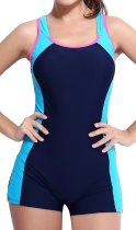 Boyleg Backless One Piece Swimsuit