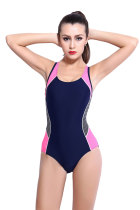 Hollow Out Back One Piece Bathing Suit