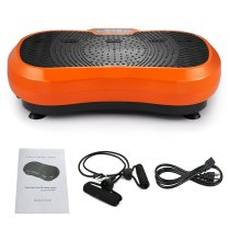 Reliancer Full Body Fitness Vibration Platform Crazy Fit Plate Massage Slim Workout Trainer Body Shape Exercise Machine w/Remote Control & Balance Straps