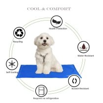 Reliancer Pet Summer Cool Mat Self Cooling Comfortable Dog Mat Pad Extra Large Pressure-Activated Gel Cold Ice Pad Non-Toxic Cats Freezing Floor Bed Sofa Mat for Kennels Crates Beds Car Seat