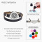 Stainless Steel Essential Oil Diffuser Bangle Leather aromatherapy bracelet box with complimentary pads and jewelry box