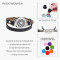 Genuine Leather Wrap Bracelet Aromatherapy Diffuser Floating Charm Love your body Stainless Steel Bracelets for Women