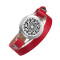 Red leather bracelet aromatherapy health locket 316L stainless steel pretty band ladies gift bracelets for women