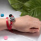 Double wrap leather Red bracelets For Women Aromatherapy Jewelry Tree of Life diffuser Valentine's Day gift Wholesale