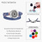 Denim Double leather bracelet Body mind spirit 25mm Locket aromatherapy essential oil diffuser bracelets for women