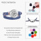 Denim Double wrap leather bracelet Body mind spirit Locket aromatherapy snow essential oil diffuser bracelets for women