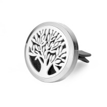 Car Perfume Locket 30mm Stainless Steel tree of life my famil Essential Oil Aromatherapy Diffuser Magnetic Lockets for women