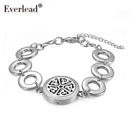 2018 newest round magnetic lockets stainless steel silver color Metal circle Band Aromatherapy locke Bracelets&Bangles