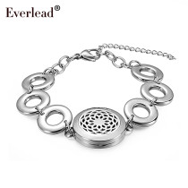 Mother's Day Gift (25mm) with Stainless Steel circle bracelet Aromatherapy/Essential Oils Diffuser Locket Bracelets for party