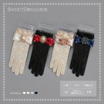 SweetDreamer Pearl bow lace Vintage Lolita gloves