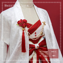 Sweetdreamer Lolita Brooch chain of tassel chain of Camellia sinensis