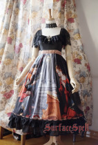 SurfaceSpell ~ L'annonce faite a marie Gothic Print  Lolita OP Dress